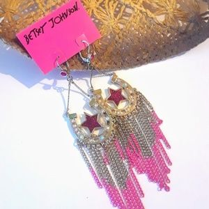 NEW RARE BETSEY JOHNSON EARRINGS